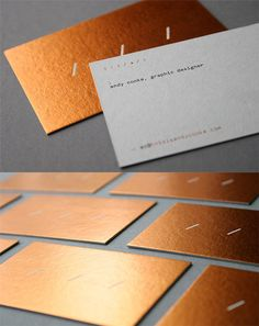 elegant hot foil business card