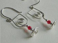 Sterling Silver Wine Glass Earrings