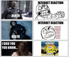 Pretty much my reactions, but Myrcella was sad, she was a nice girl and my heart broke for Jaime