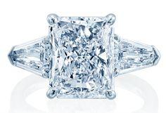 JB Star #platinum radiant diamond engagement ring