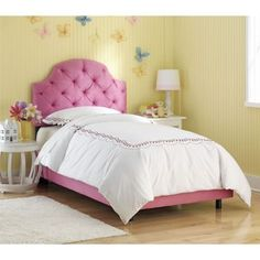 Pink tufted full bed from Costco $389.99