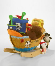 Take a look at this Ahoy Doggie Pirate Ship Rocker by Rockabye on #zulily today!
