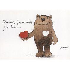 Schöne Janosch Postkarte Liebe: Kleines Geschenk für Dich