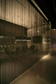 Nice idea for a front conference room partition which would still let natural light in Restaurant Interior Design, Office Interior Design, Interior And Exterior, Corporate Interiors, Office Interiors, Corporate Offices, Commercial Design, Commercial Interiors, Architecture Details