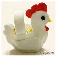 DIY : créer un panier poule en feutrine pour Pâques Easter Crafts For Kids, Felt Ornaments, Paper Quilling, Happy Easter, Lily, Crochet, Inspiration, Charlotte, Creations