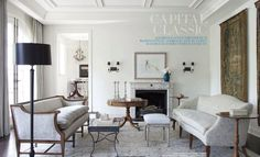 This gorgeous 10,000-square-foot Georgian-style townhouse was designed by Darryl Carter and architects Michael Franck and Art Lohsen. ENJOY...