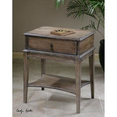 Uttermost Hanford Weathered Accent Table 24312