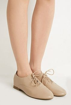 Faux Leather Oxfords | Forever 21 - 2000132388