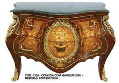 Bombe Chest with beautiful marquetry and bronze Ormalue mounts