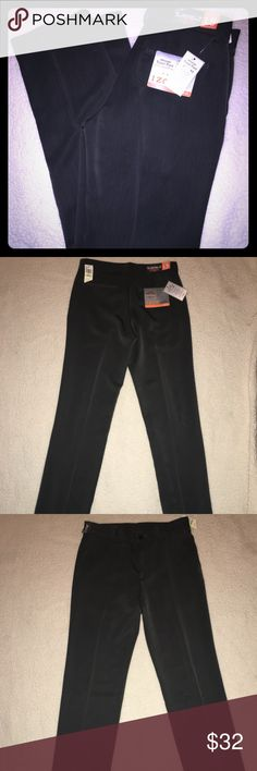 IZOD 30X32 Travel Sport Flex Slacks NWT Men's Izod dress slack pants size 30X 32 with stretching waist band , straight leg no shrink, wrinkle proof, stain release & cool/fx wicking ...They are new with tags & the color is a dark charcoal almost black Izod Pants