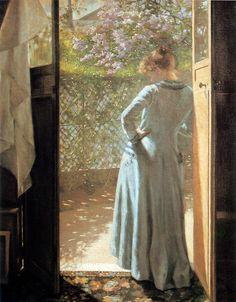At the Cottage Door - Eva Bonnier (Swedish, 1857-1909)