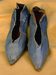 Pair of Lady's Leather Shoes, American, 1790s