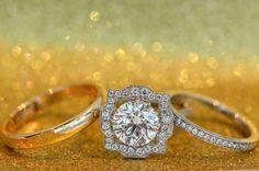 gold glitter rings