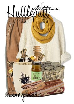 """Hufflepuff"" by disneykid95 ❤ liked on Polyvore featuring Coach, L.L.Bean, Crate and Barrel, ASOS, Le Creuset and Surface To Air"