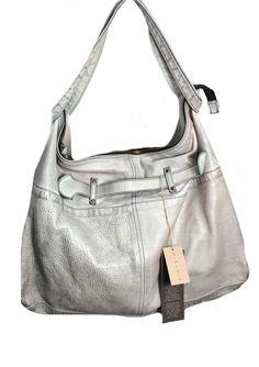 MIALUIS borsa donna mod BIBI colore perla used tasca interna con zip 100% pelle