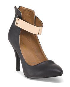 Ankle Buckle High Heel Pump