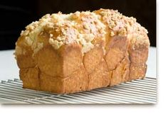 Coconut Bread ~ instead of melted shortening I would use melted coconut oil, this sounds really good.