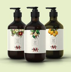 Mencia Natural Care on Packaging of the World - Creative Package Design Gallery Cosmetic Labels, Cosmetic Packaging, Beauty Packaging, Poster Design, Label Design, Package Design, Bottle Packaging, Soap Packaging, Cosmetic Design