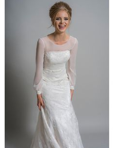Are you an older bride who's stuck for what to wear on your wedding day? We round up the most sophisticated dresses out there for the mature amongst us Strappy Wedding Dress, Boat Neck Wedding Dress, Illusion Neckline Wedding Dress, Pink Wedding Dresses, Luxury Wedding Dress, Gorgeous Wedding Dress, Wedding Dress Sleeves, Wedding Gowns, Rose Wedding