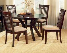 ... Pretty Lexington 5 Piece 48 Inch Round Dining Room Set on sale online