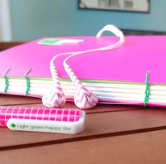 Pink Live journal by on Etsy Pink Live, Beige, Journal, Stitch, Handmade, Stuff To Buy, Etsy, Full Stop, Journal Entries