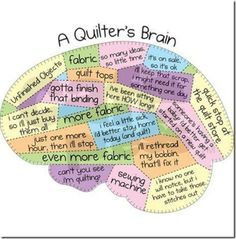 Perfectly formed quilter's brain!