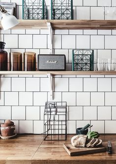 Look Over This 77 Gorgeous Examples of Scandinavian Interior Design Scandinavian-kitchen-with-white-tiles-and-wood-worktops The post 77 Gorgeous Examples of Scandinavian Interior Design Scandinavian-kitchen-with-w… appeared first on Ameria . Scandinavian Interior Design, Scandinavian Home, Home Interior, Interior Design Kitchen, Scandinavian Kitchen Tiles, Nordic Kitchen, Scandinavian Benches, Industrial Scandinavian, Scandinavian Apartment