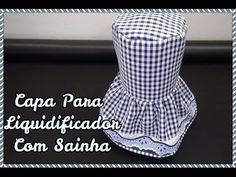 CAPA PARA LIQUIDIFICADOR COM SAINHA Baby Dress Patterns, Projects To Try, Kitchen Curtains, Sewing, Crochet, Fabric, How To Make, Diy, Hand Stitching