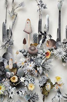 Anne Ten Donkelaar Re-construct Flowers with Pins & Paper | Trendland: Fashion Blog & Trend Magazine
