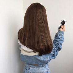 Brown hair goals straight af