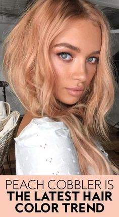 Peach Hair Colors, Red Balayage Hair, Latest Hair Color, Latest Hair Trends, Strawberry Blonde Hair Color, Low Lights Hair, Blonde Hair Looks, Spring Hairstyles, Looks Style