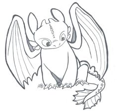 toothless dragon coloring pages - Google Search