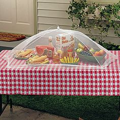 It's International Picnic Day!  Protect your picnic food with these Picnic Food Umbrellas!