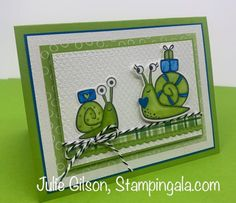 Greeting cards and treat holder created with Stampin' Up's Snailed It Bundle. #Stampin' Up, #Stampin' Gala, #Birthday, #Valentine's Day, #Children's Cards 21 Cards, Kids Cards, Snail Cards, Treat Holder, Animal Cards, I Am Happy, Stampin Up Cards, My Design, Greeting Cards