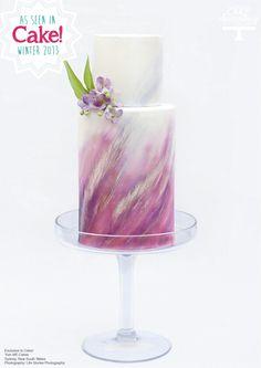 Pretty airbrush cake