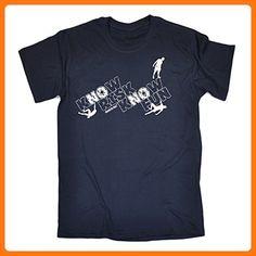 Adrenaline Addict Herren T-Shirt, Slogan Gr. Large, Blau - Navy