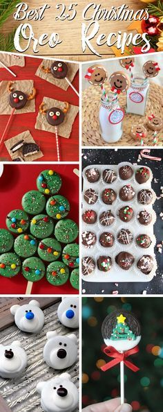 25 Christmas Oreo Recipes Turning The Cookies Into a Toothsome Festive Treat (christmas sweets recipes gift) Christmas Deserts, Christmas Food Gifts, Christmas Goodies, Christmas Baking, Christmas Recipes, Köstliche Desserts, Holiday Desserts, Holiday Treats, Sweets Recipes