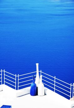 Santorini Blue + White