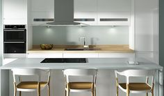 Top Cabinets - Sofia White Gloss Kitchen | Wickes.co.uk