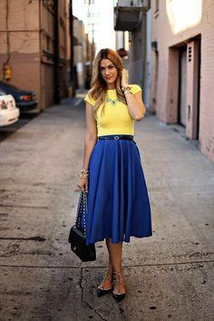 Cobalt blue + yellow