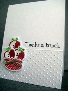 A simple thank you card who adores simplicity.