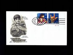 US 2784a American Sign Language Sep 20, 1993 Burbank CA - Artcraft - First Day Cover lot #F2784a-1 by VicsStamps on Etsy