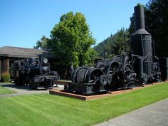 Trains in scotia, California.  Photo courtesy Best Western Country Inn Fortuna.  http://bwcountryinnfortuna.com/