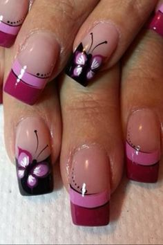 Butterfly Accent nails nailart