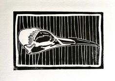 North Sea, Linocut Prints, Cool Art, Just For You, Skull, Carving, Ink, Cool Stuff, Cards