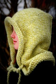 Knit Helvellyn oversized hood worked in one piece with shaping and moss stitch detail - no seaming required - by Lily Kate France. Free Ravelry download