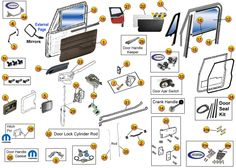 a294d54dc01e7cc51660cd388194991b jeep doors jeep wrangler yj 22 best jeep yj parts diagrams images on pinterest morris 4x4