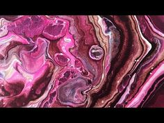 Abstract Acrylic Fluid Painting Dirty Pour Technique: Raspberry Truffle - YouTube