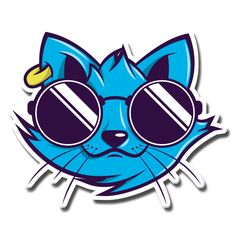 cool cat with glasses [vector character art ']