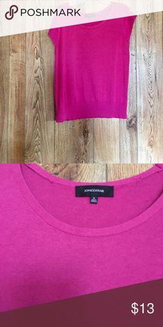 "🎉HP🎉Plus Size Pink Sweater 🎉HOST PICK🎉""Everything Plus Size"" 1-17-17💫Plus size short sleeve pink sweater EUC joneswear Tops"